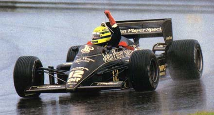 Ayrton Senna in the Lotus 97T